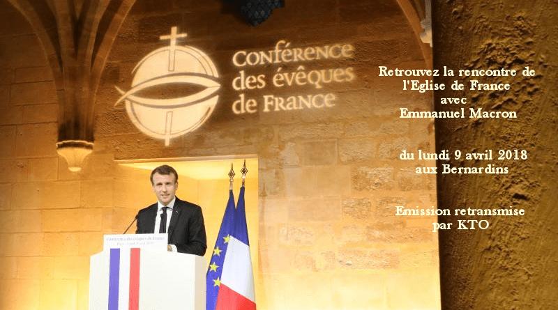 Discours d'Emmanuel Macron à la conférence des évêques de France