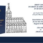 Le droit canonique : un droit au service de l'Eglise et des fidèles.