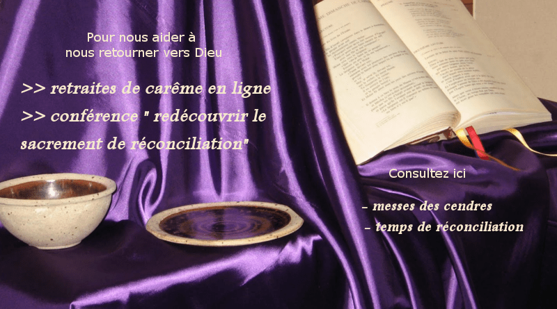 Mercredi des Cendres … le Carême …