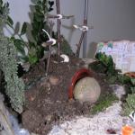 Jardin de Pâques… décoration de porte…